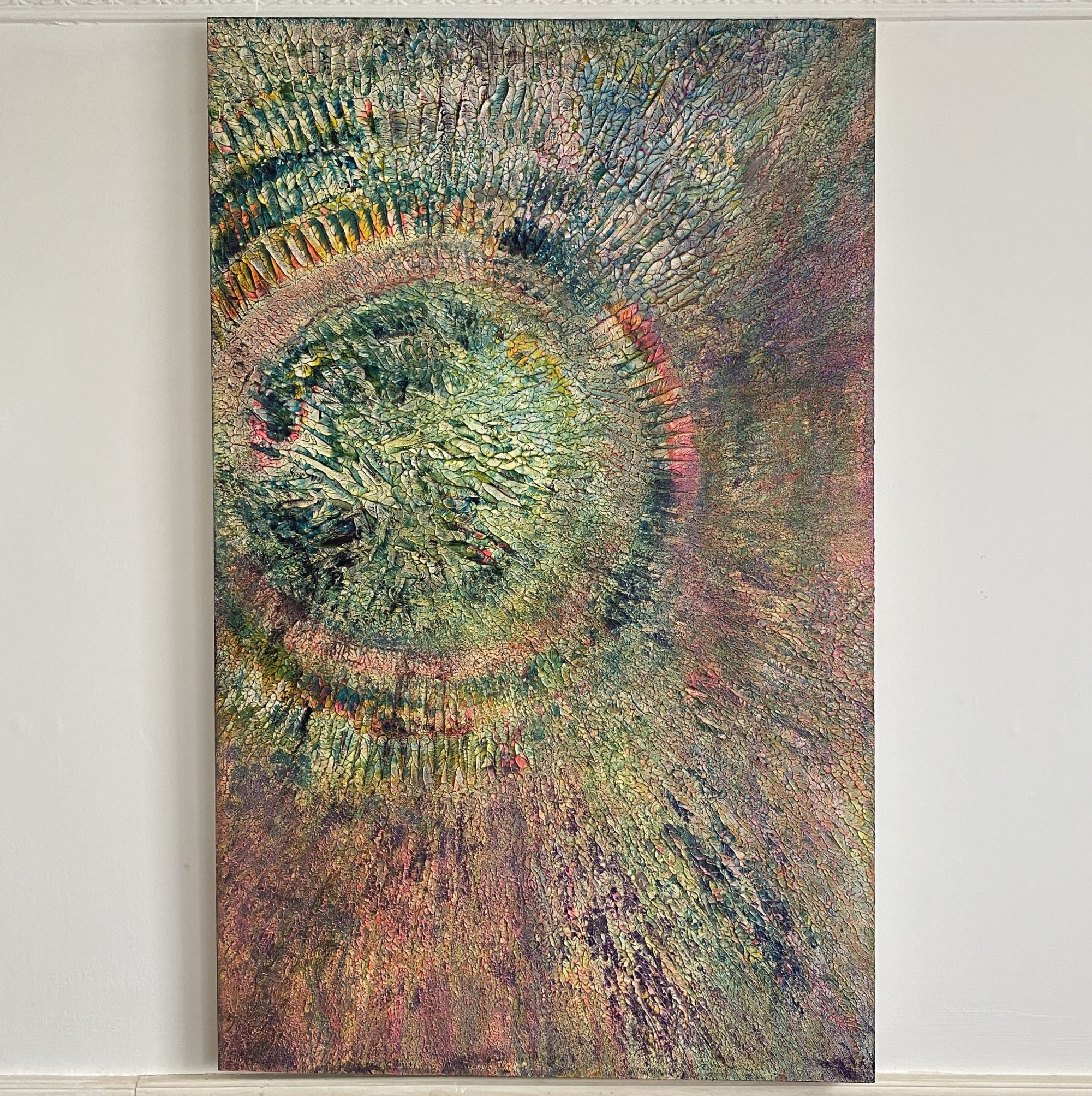 full gallery view of life abstract painting inspired by organic growth plant life by emily duchscherer kirk