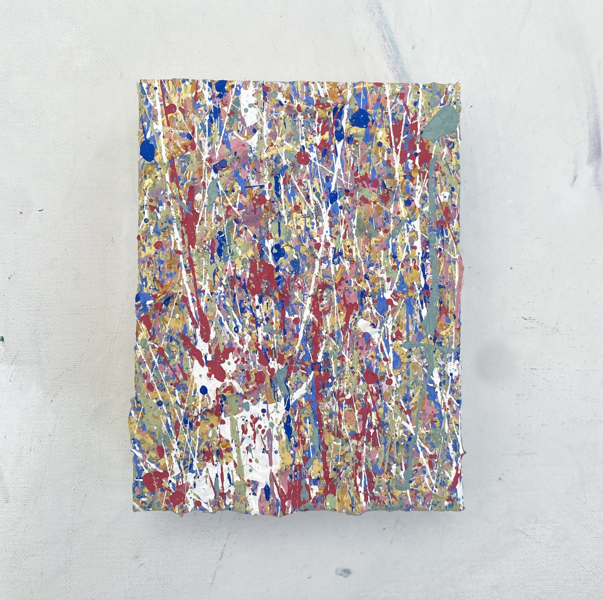 detailed photography of a painting elements seven a textured artworks created using plastic free environmentally friendly paints by somerset artist emily duchscherer kirk