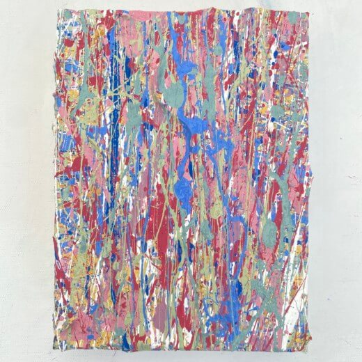 gallery view photography of a painting called elements eight a textured artwork created using plastic free eco friendly paints by abstract somerset artist emily duchscherer kirk