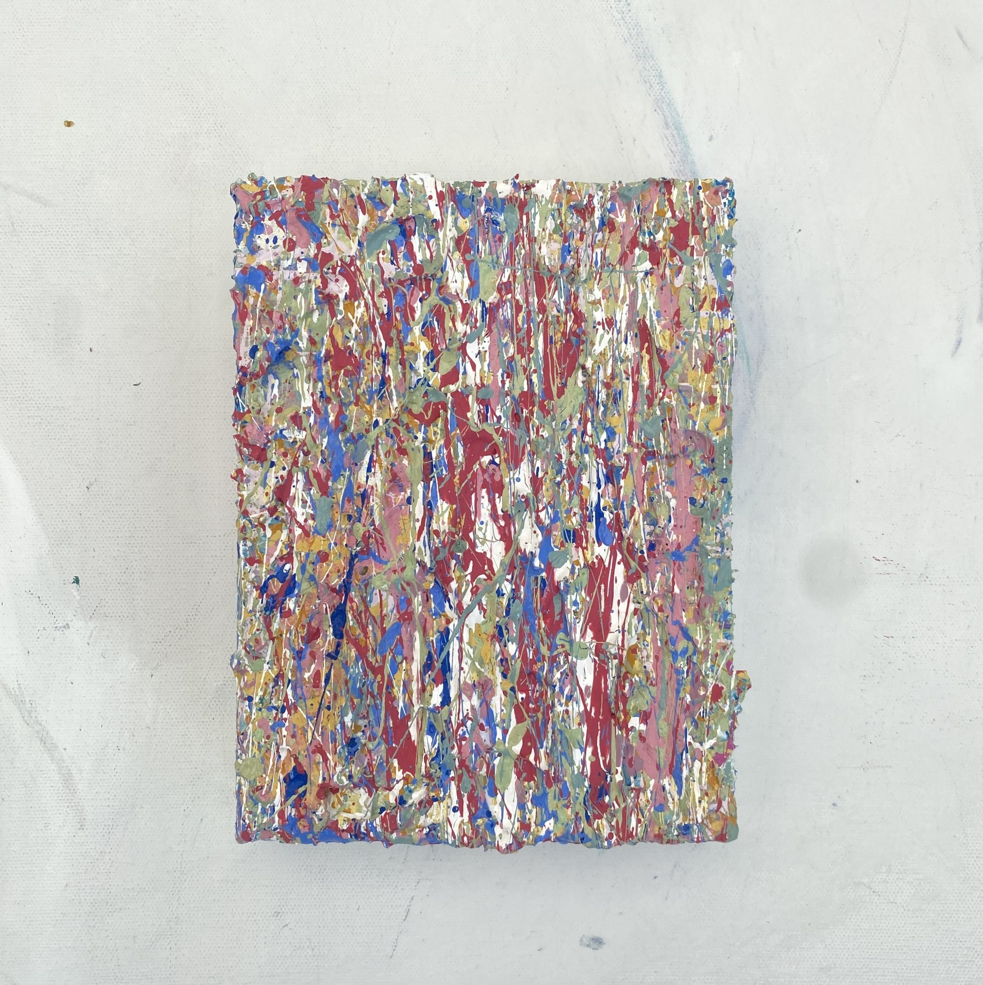 gallery view photography of a painting called elements nine a textured artwork created using plastic free eco friendly paints by abstract somerset artist emily duchscherer kirk